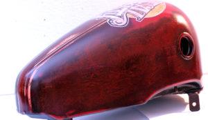 Harley Davidson custom retro vintage paint foglia oro Real Nasty