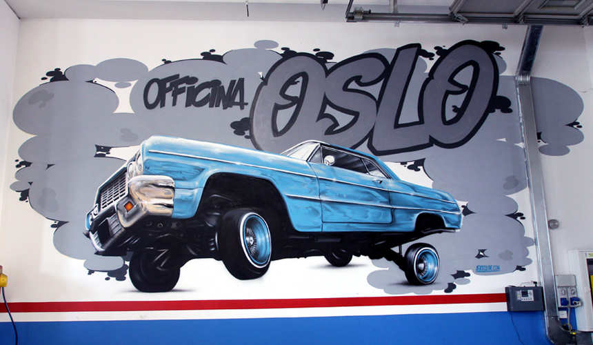 Murales Spray Graffiti Art Custom Car